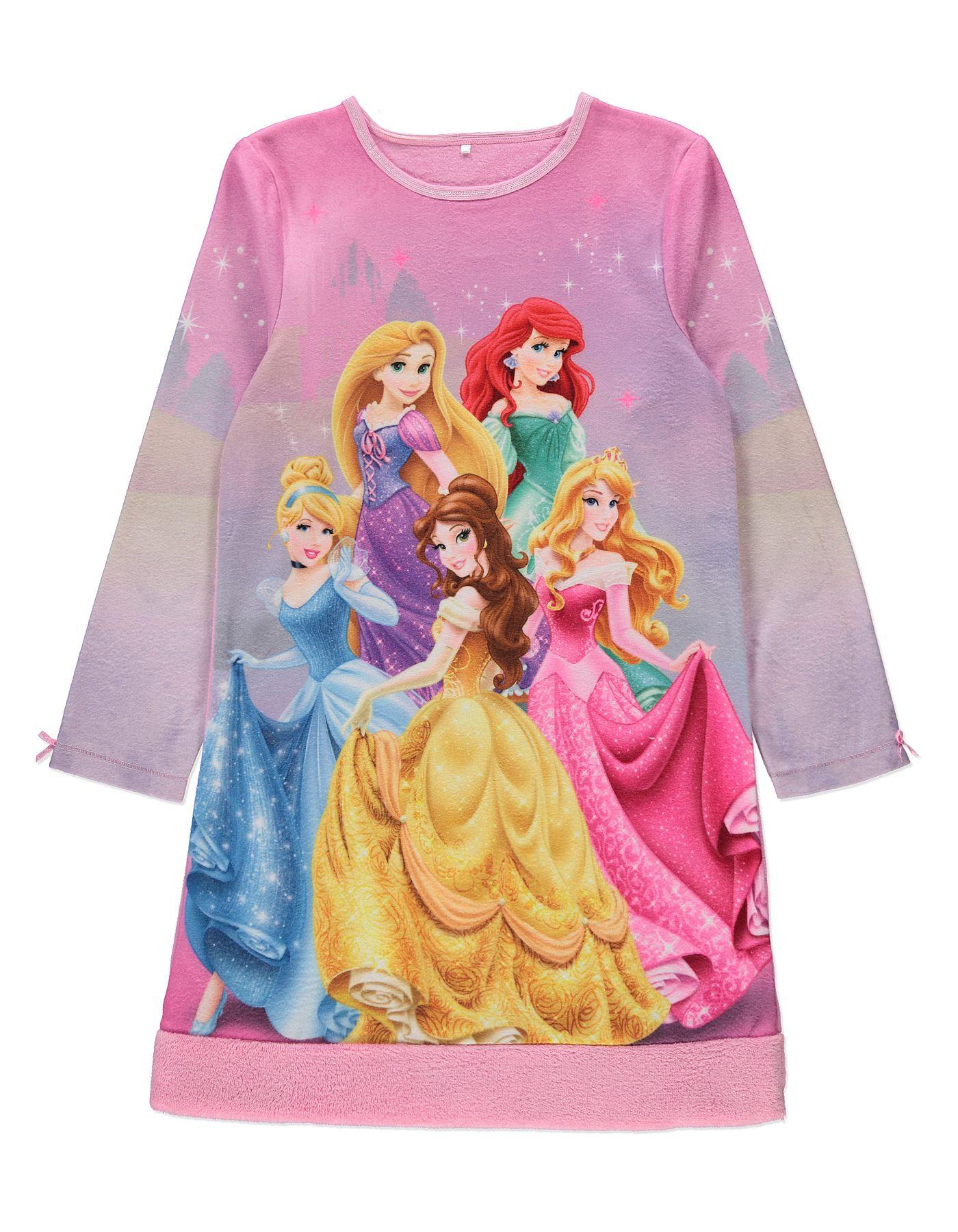 Disney Princess Fleece Nightdress   Kids   George at ASDA