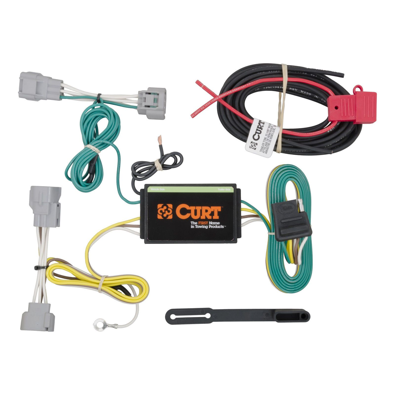 medium resolution of curt custom vehicle to trailer wiring harness 56208 for 2014 2016 jeep cherokee
