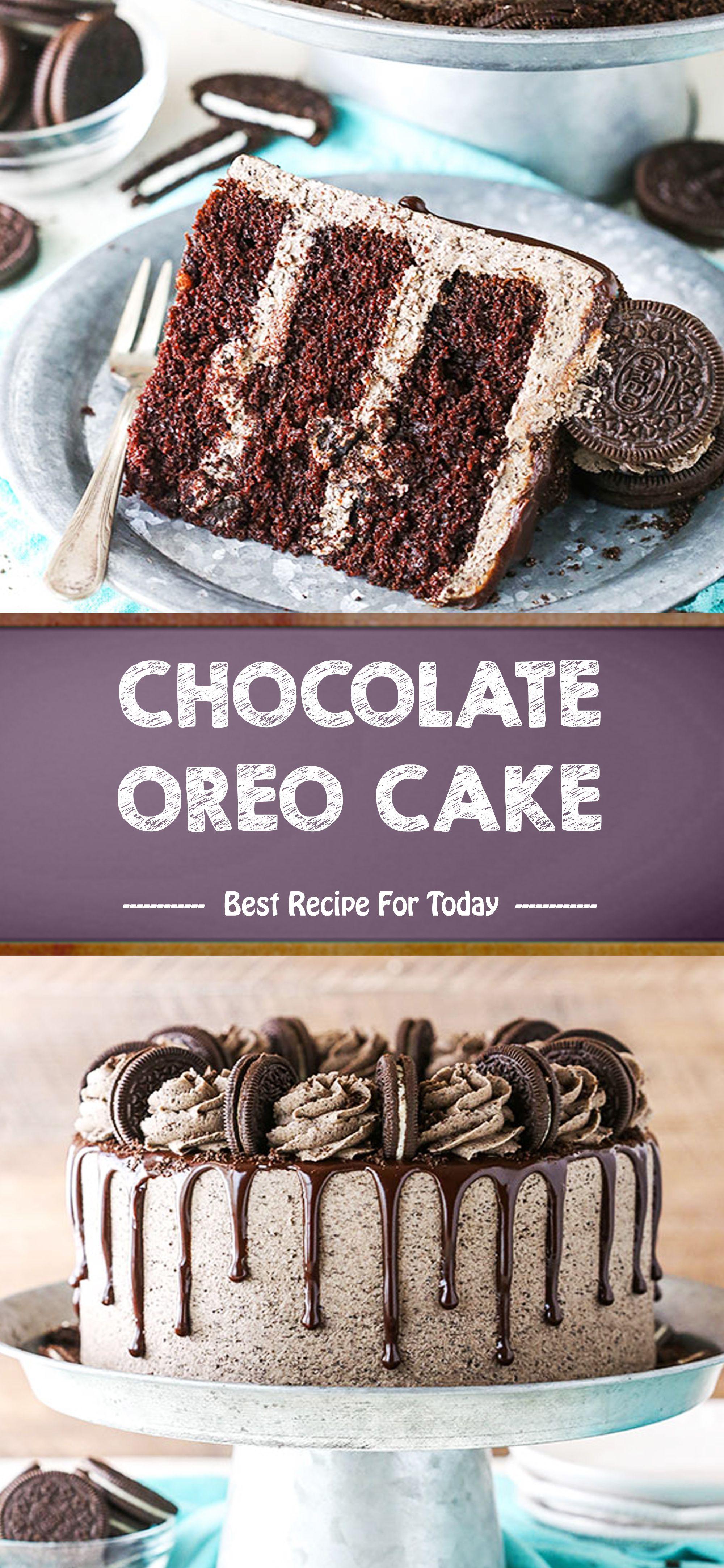CHOCOLATE OREO CAKE #oreofrosting