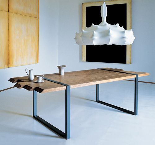 Cool Dining Table By Zanotta Raw Dining Table Contemporary Dining Table Raw Wood Furniture