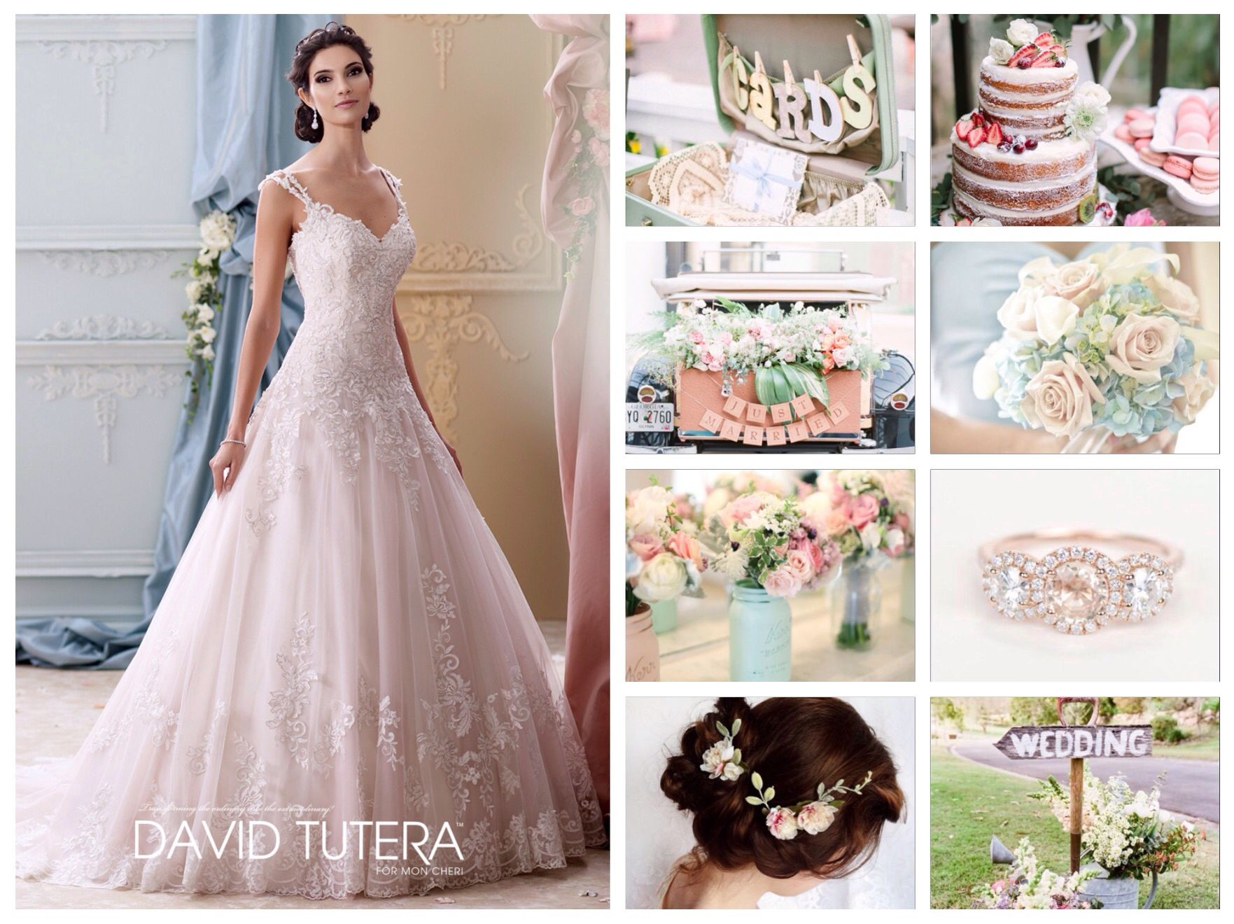 Pretty Pastel Themed Wedding Wedding Ideas Collages Pinterest