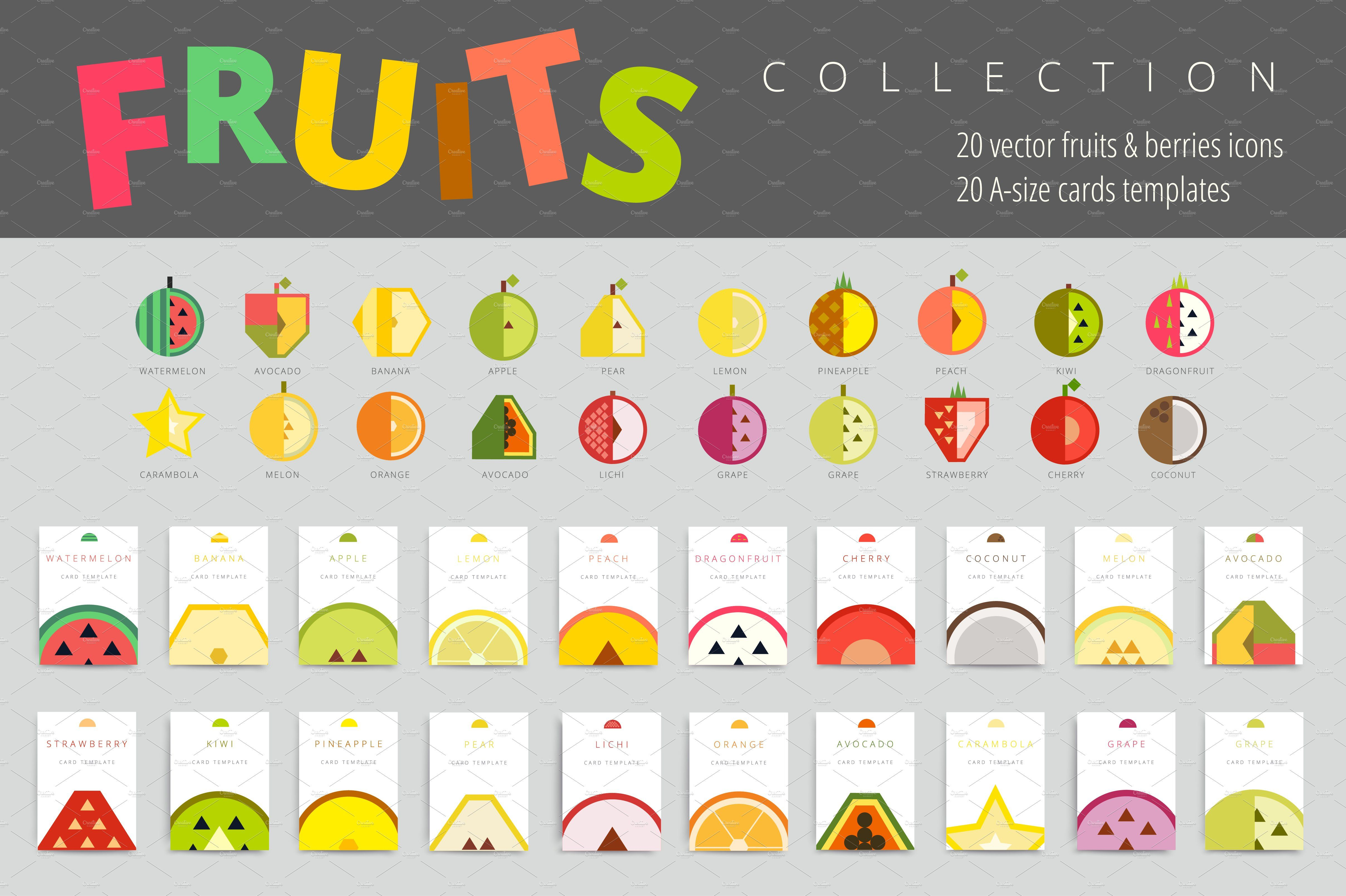 Simple Vector Fruits