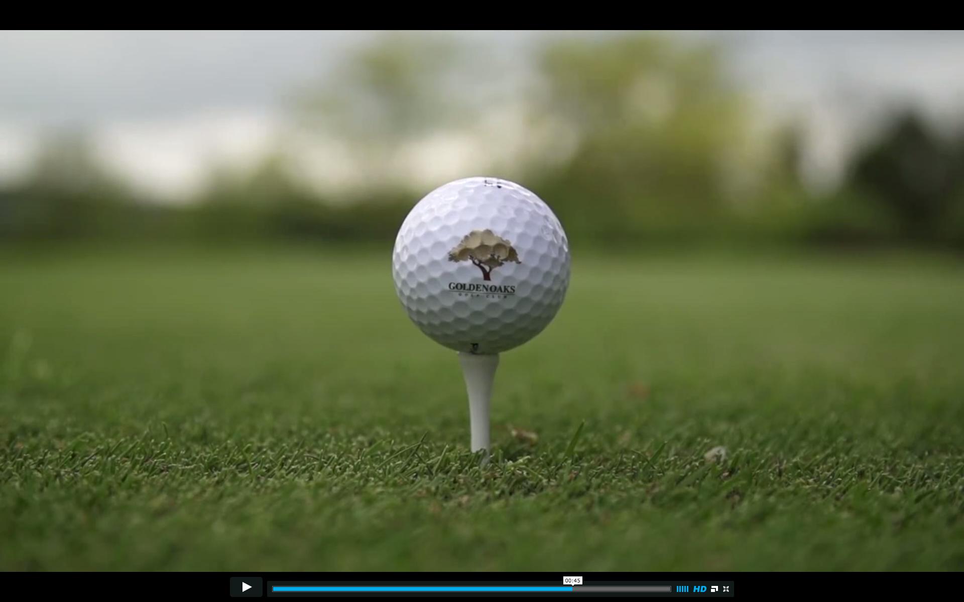 Close Up Golf Ball Shot With Logo Golf Ball Golf Ab Work