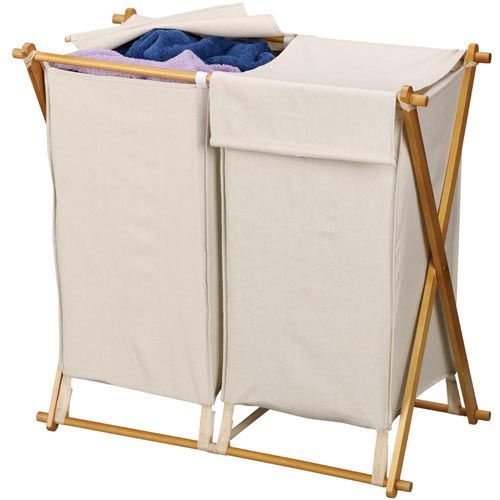 The Wood X Frame Hampers With A Removable Washable 600d Polyester