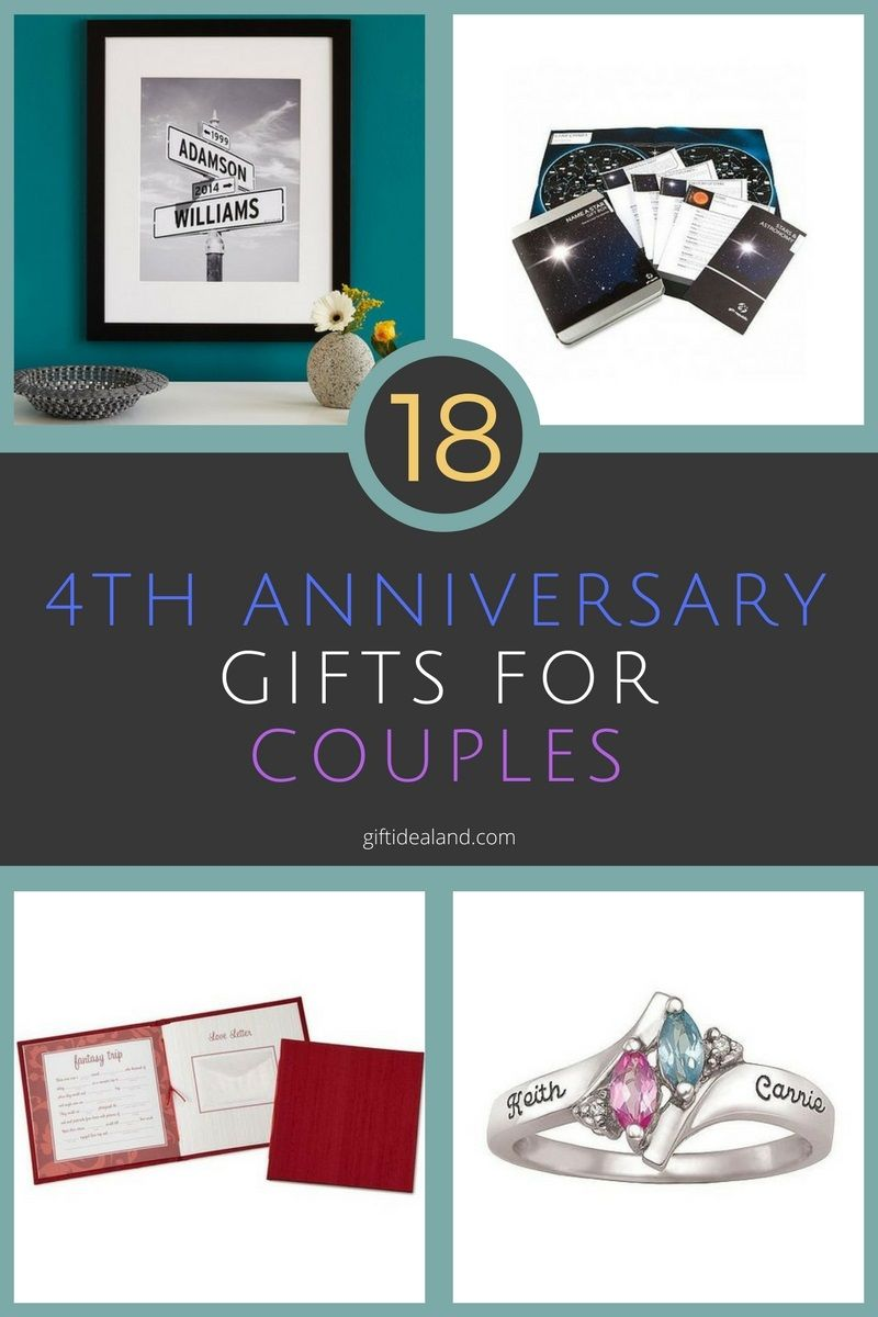 18 great 4th wedding anniversary gift ideas for couples
