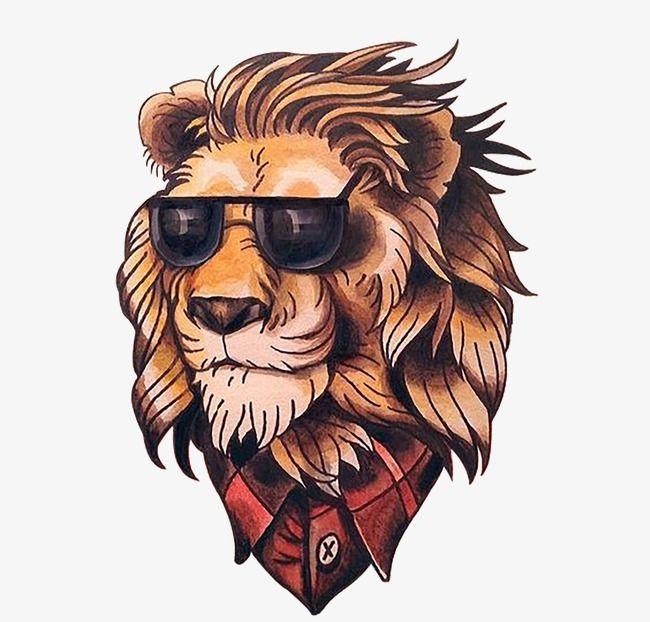 Cartoon Lion Head Png And Clipart Lion Tattoo Design Cute Small Tattoos Cartoon Lion