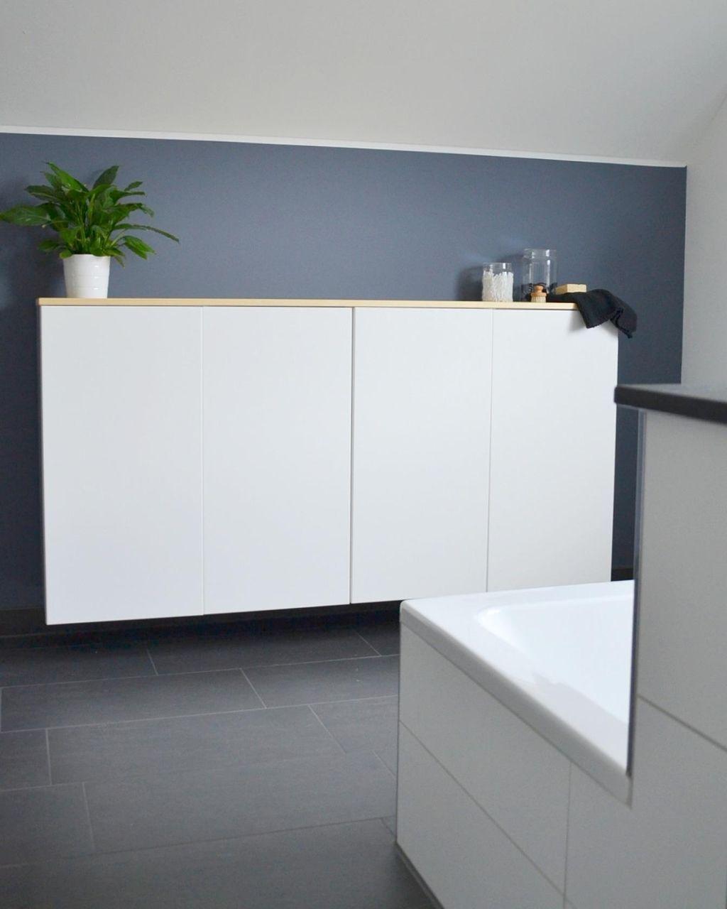 Ikea Kuchenschrank Umfunktioniert Zum Badschrank In 2020 Badezimmer Schrank Ikea Badschrank Badschrank