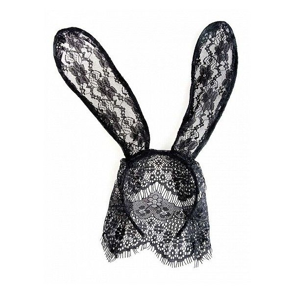 Choies Black Lace Rabbit Ears Headband ($5.90) ❤ liked on Polyvore featuring accessories, hair accessories, headband hair accessories, lace headwrap, lace hair accessories, hair bands accessories and head wrap hair accessories