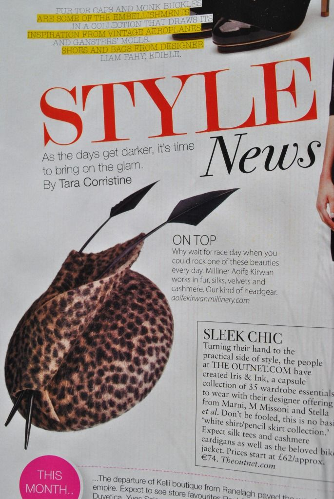 'Harlow' featured in the October issue of Irish Tatler
