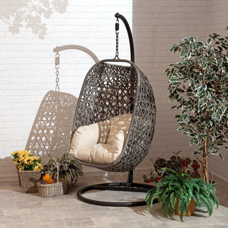 Gurganus Cocoon Patio Chair with Cushion Swinging chair