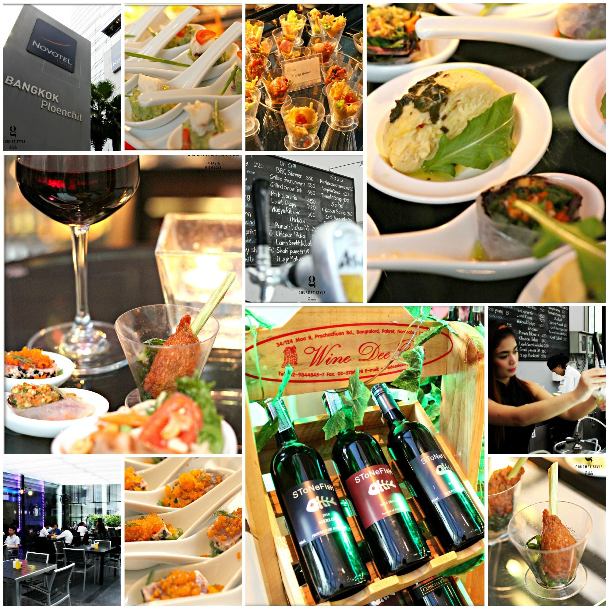 Drop by Dee Lounge at Novotel Bangkok Pleonchit Hotel for their Wednesday's Wine and Jazz Night. Let their light jazz music massage your nerve, and let yourself enjoy their fine pairing of wine and complimentary tapas.  Jazz up all your Wednesday nights in May 2014 with nice wine and food!