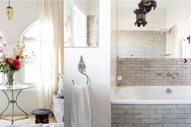 bath tile and faucet