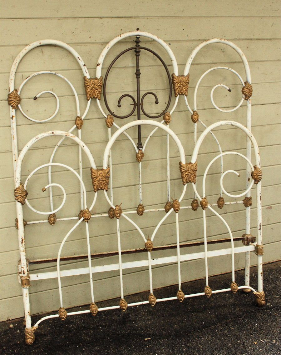 Cathouse Option 4 With Images Antique Iron Beds Iron Headboard White Iron Beds