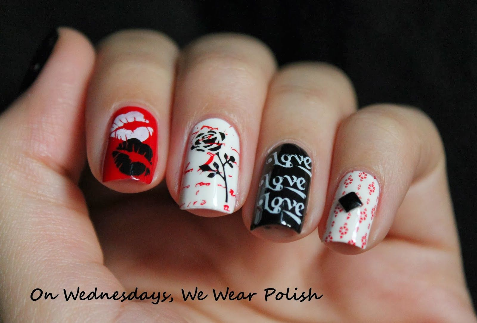 On Wednesdays, We Wear Polish : Valentine's Day Skittelette
