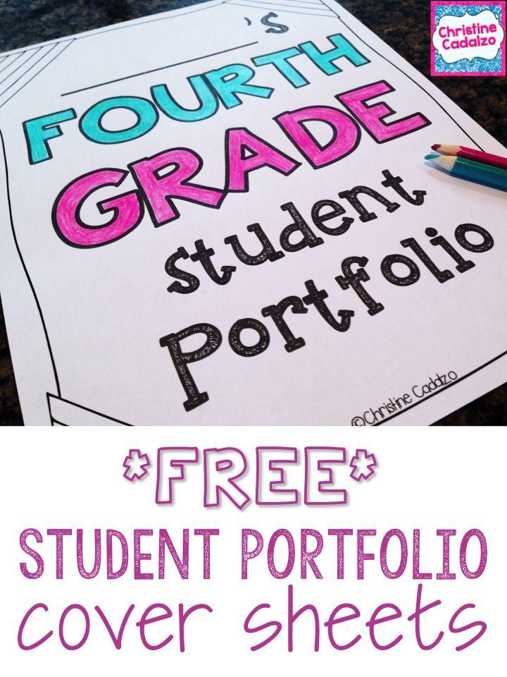 Free Student Portfolio Cover Pages Student Portfolios