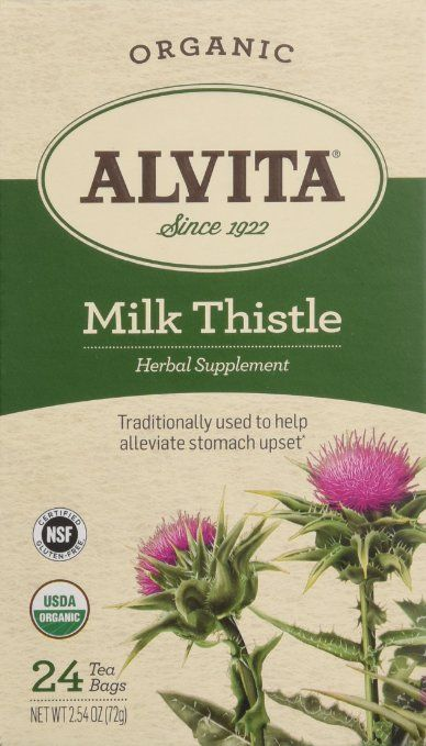 Alvita Organic Herbal Tea Bags, Milk Thistle, 24 Count