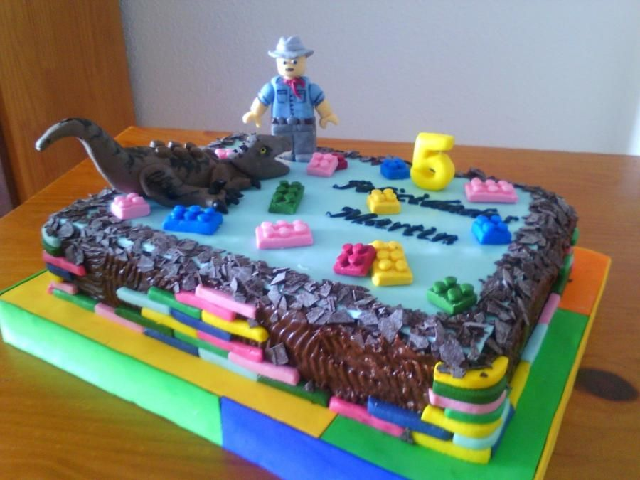 Lego Jurassic Park Cake Cake By Camelialeordean74 Jurassic