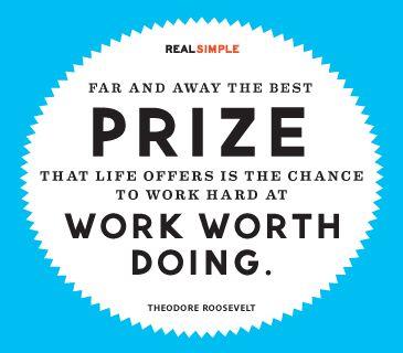 Work hard at work worth doing.  #feelbeautiful