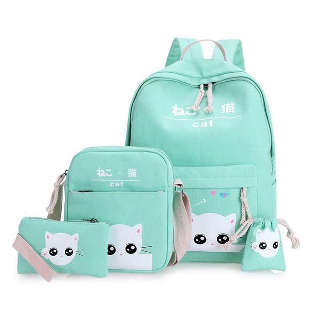 VESNAZIMA school bags cartoon printing backpacks for girls picnic bags for  kids backpack lovely cats rucksack f2123a488acf0