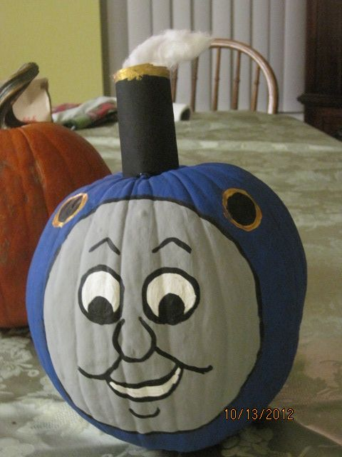 For my grandson who is a thomas the train lover a for Thomas pumpkin template