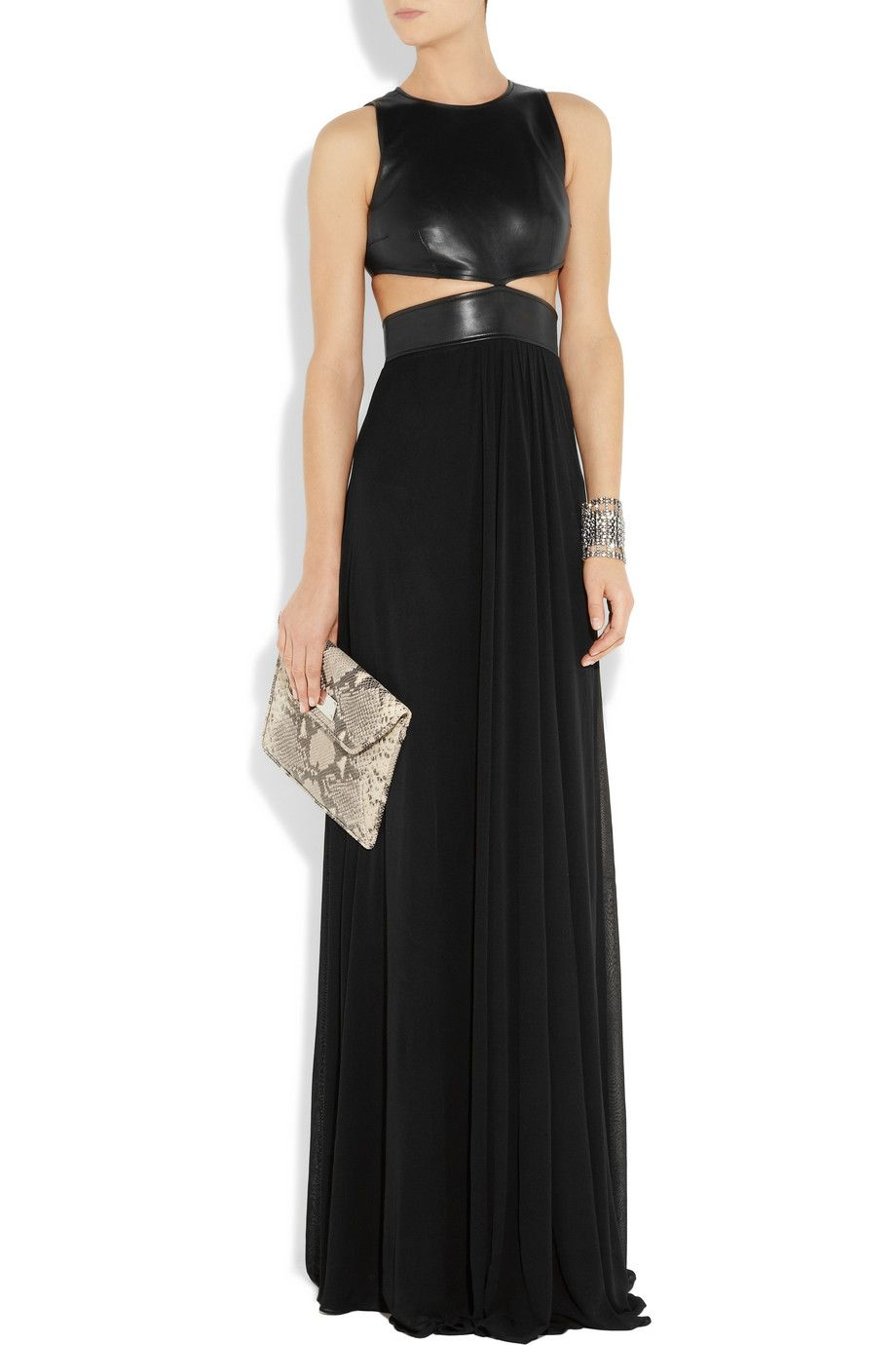 Michael Kors cutout leather gown....badass betch   Fashion ...
