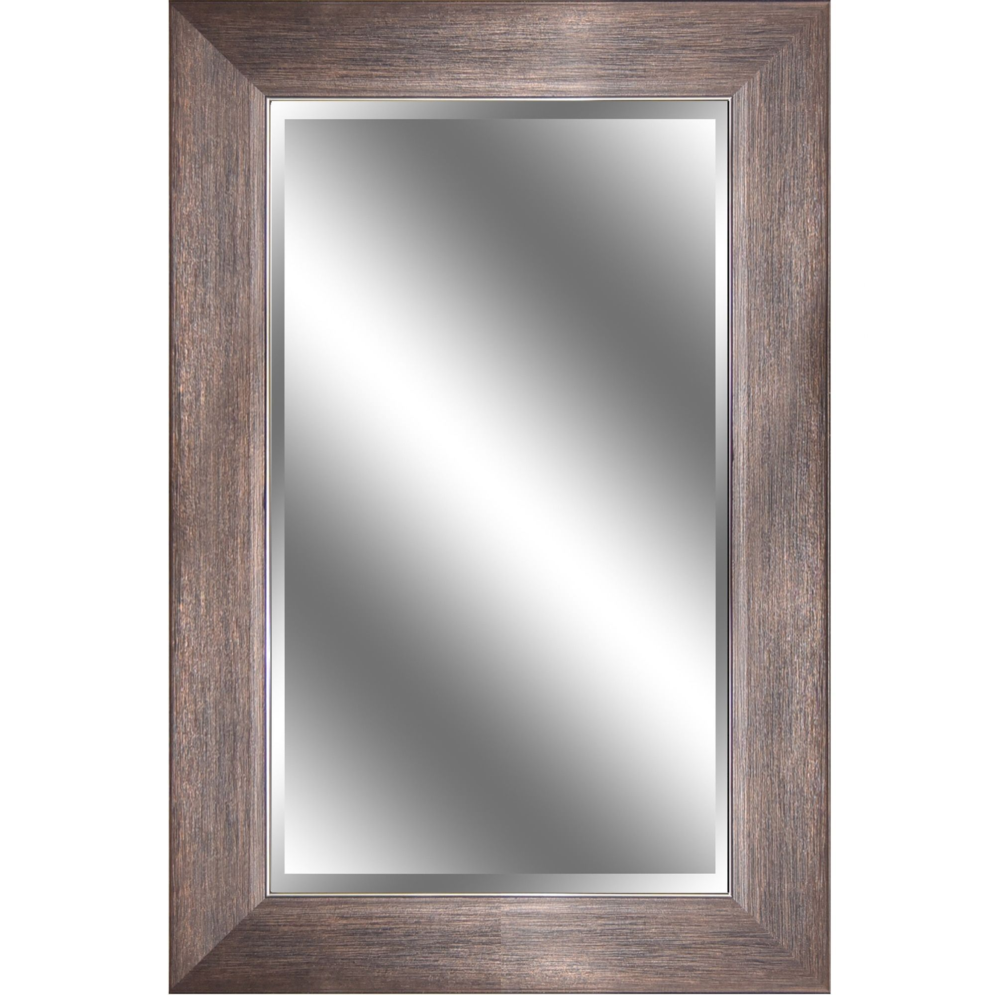 Y-Decor REFLECTION 24 x 36 x 1-inch Mirror with Bronze with Wood ...