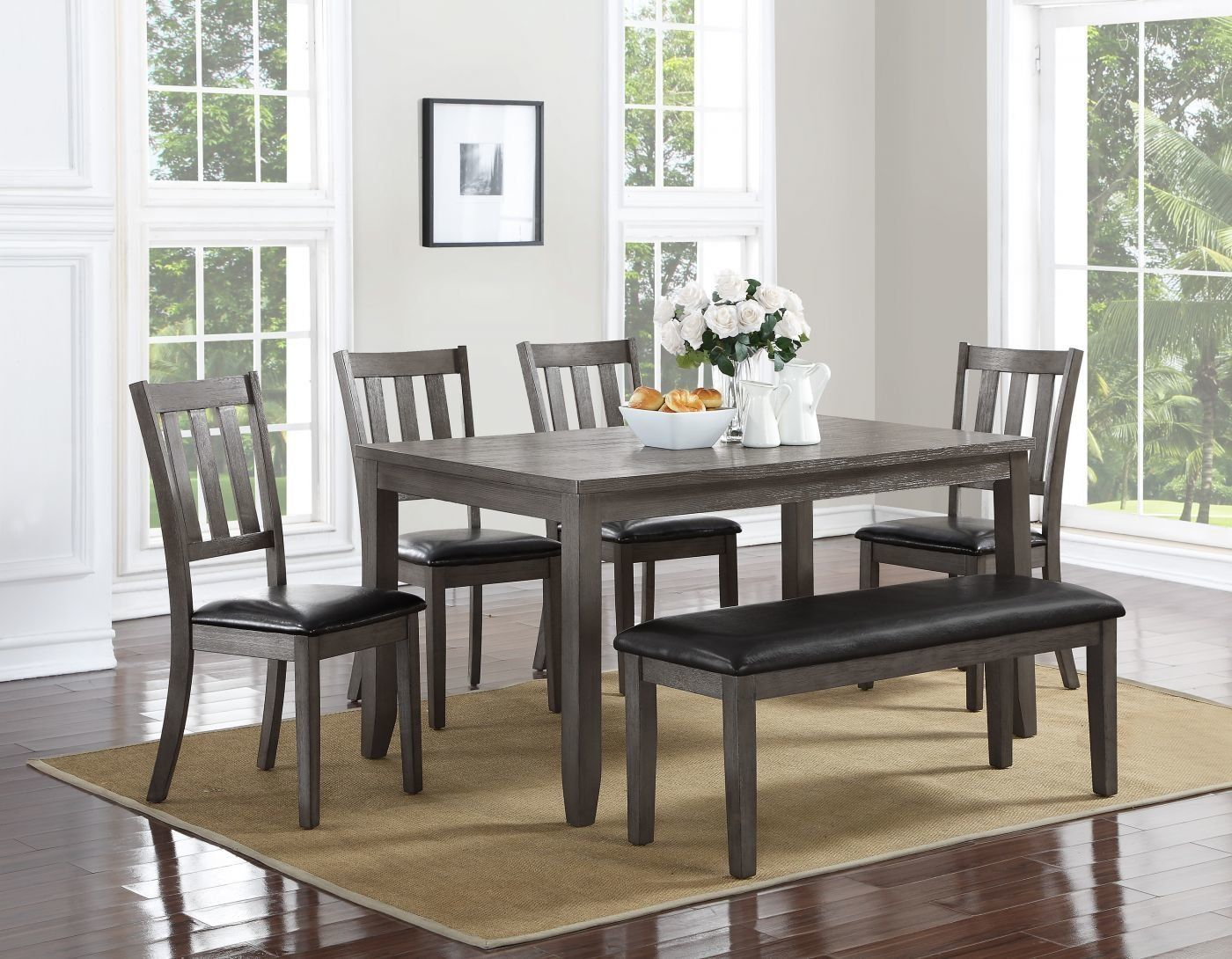 Cosgrove Grey 5 Piece Dinette Set 459 00 Stylish Dining Room