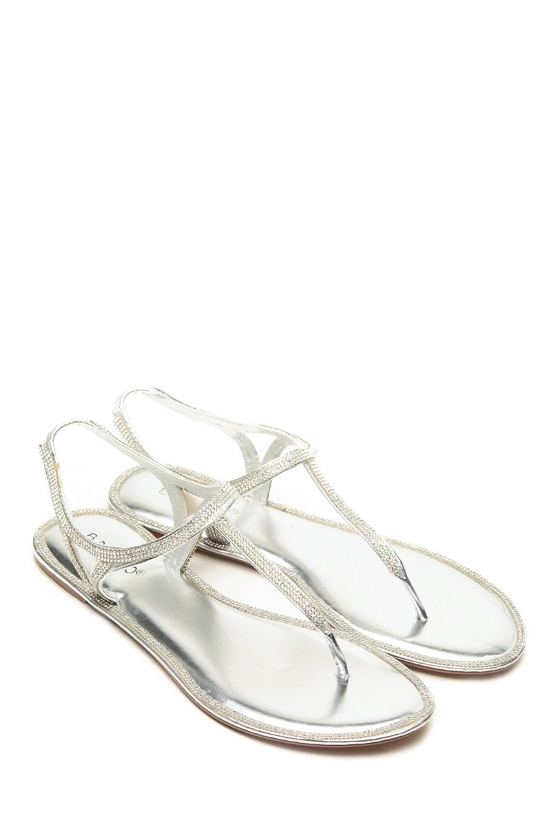 1b5e83676eb Bamboo Rhinstone Decour Silver Sandals   Cicihot Sandals Shoes online store  sale Sandals