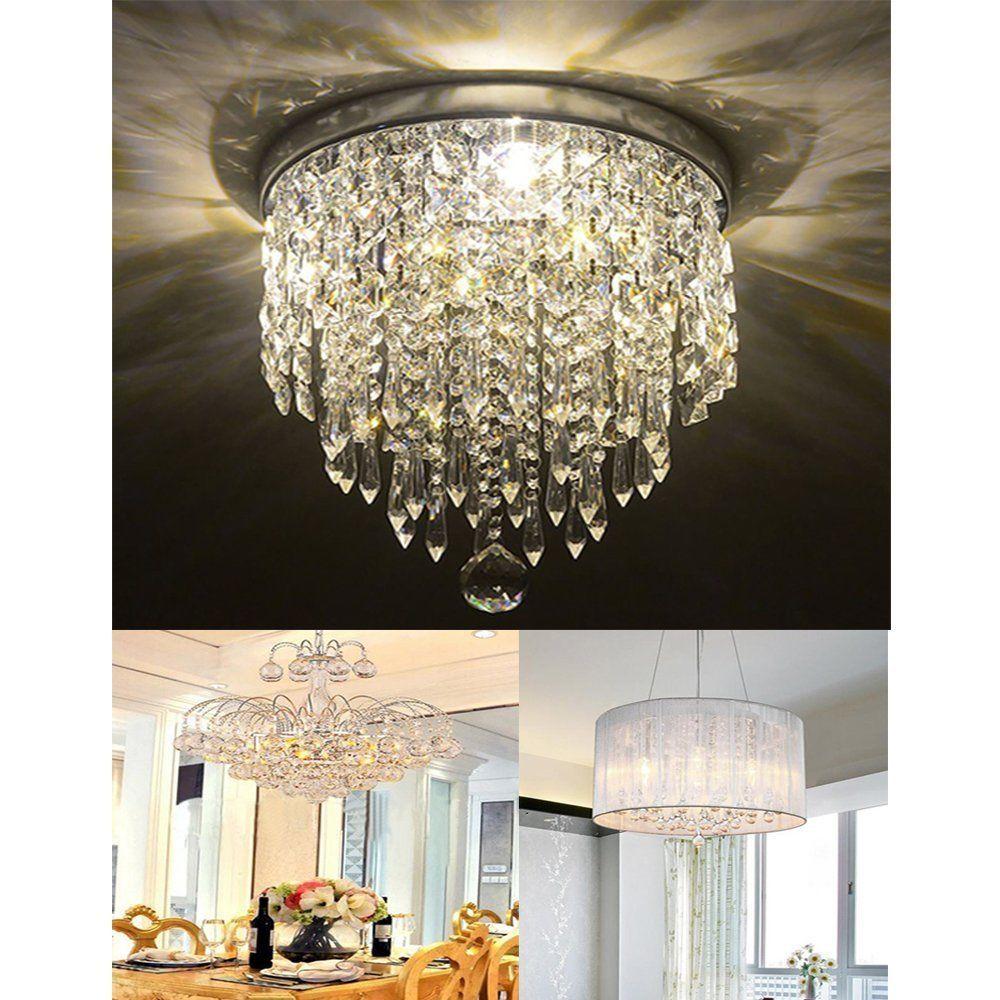Elegant Crystal Chandelier Ceiling Light Antique Lamp Pendant Lighting Fixture Unbranded Chandelier Ceiling Lights