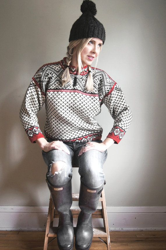 RESERVED Vintage Dale of Norway Sweater - Norwegian Fair Isle ...