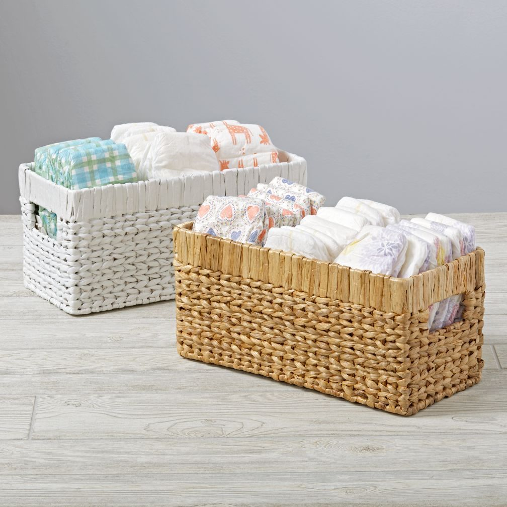Wicker Small Changing Table Basket | Crate and Barrel