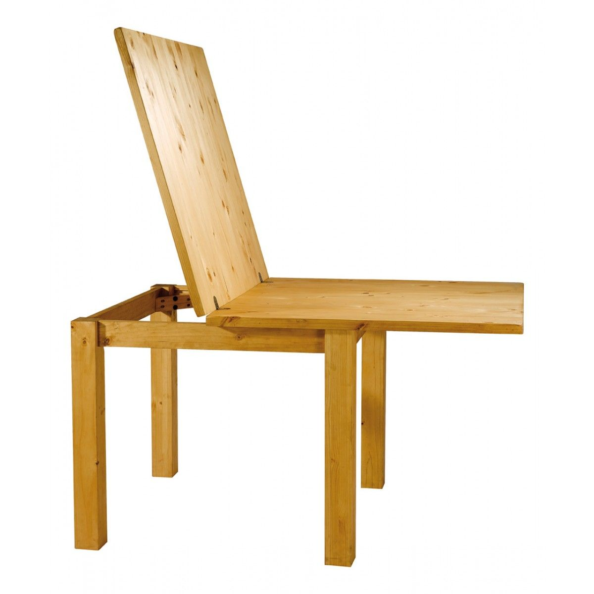 table carr e en pin 90 cm avec rallonge 90 cm soldes. Black Bedroom Furniture Sets. Home Design Ideas