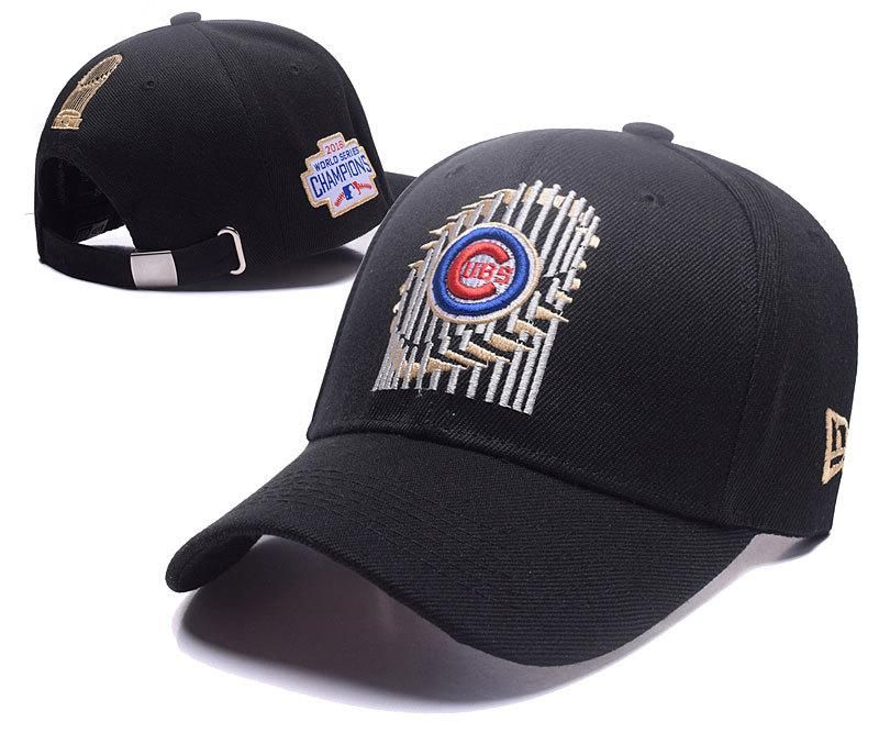 Men s   Women s Chicago Cubs New Era 2016 MLB World Series Trophy Baseball  Ajustable Dad Hat - Black 28e29e7ea7