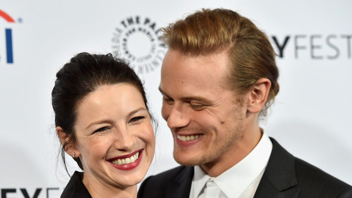 """It's always hard when we're apart,"" he says of co-star Caitriona Balfe."