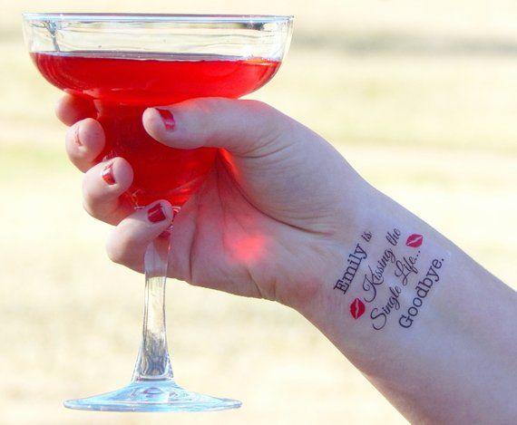 5 Bachelorette Tattoos – Kiss the Single Life Goodbye – Bachelorette Party – Bridal Shower – Hens Bachelorette Party Favors
