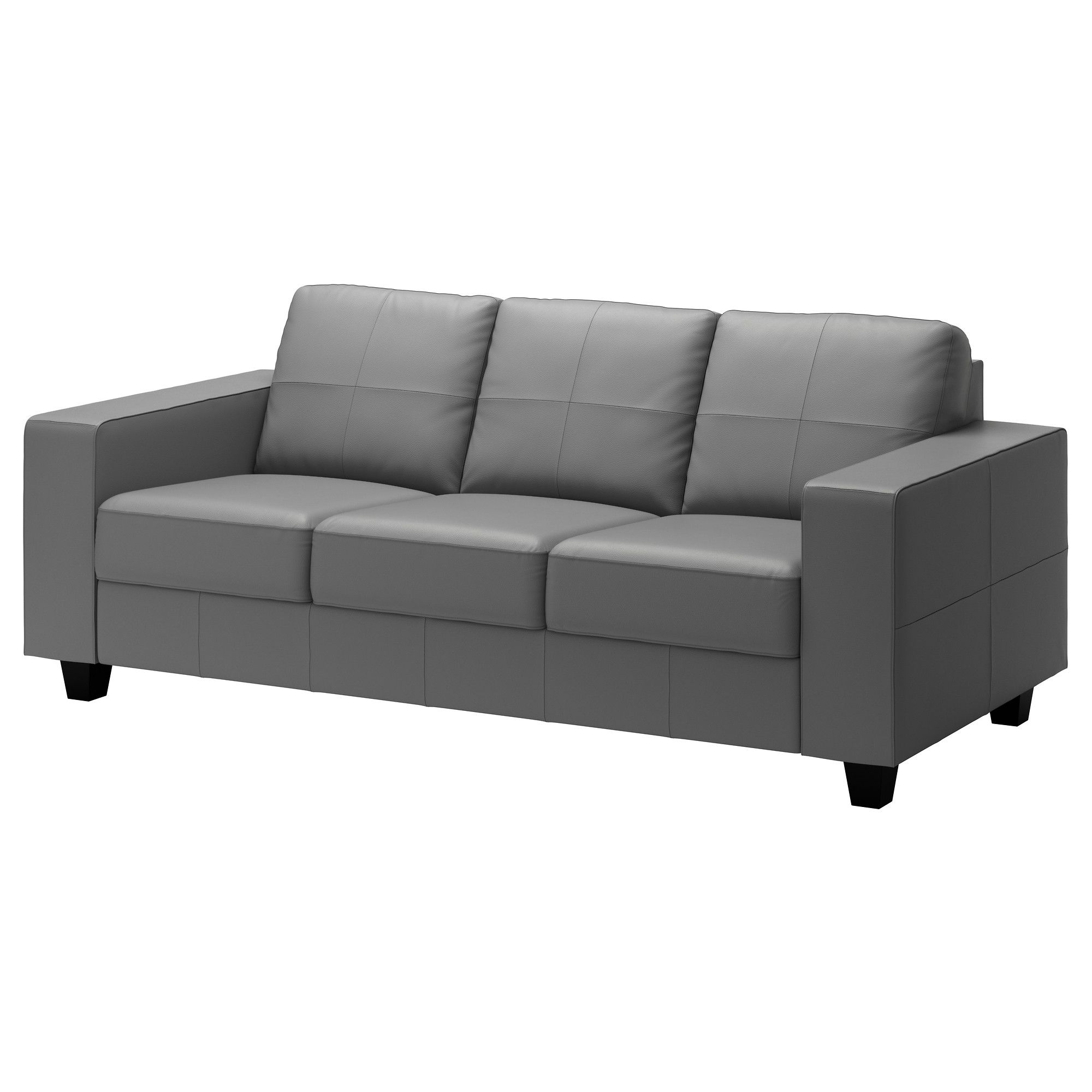 US Furniture and Home Furnishings Grey leather sofa