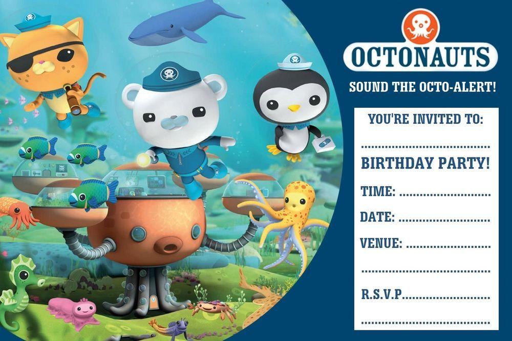 Octonauts party invitations x 20