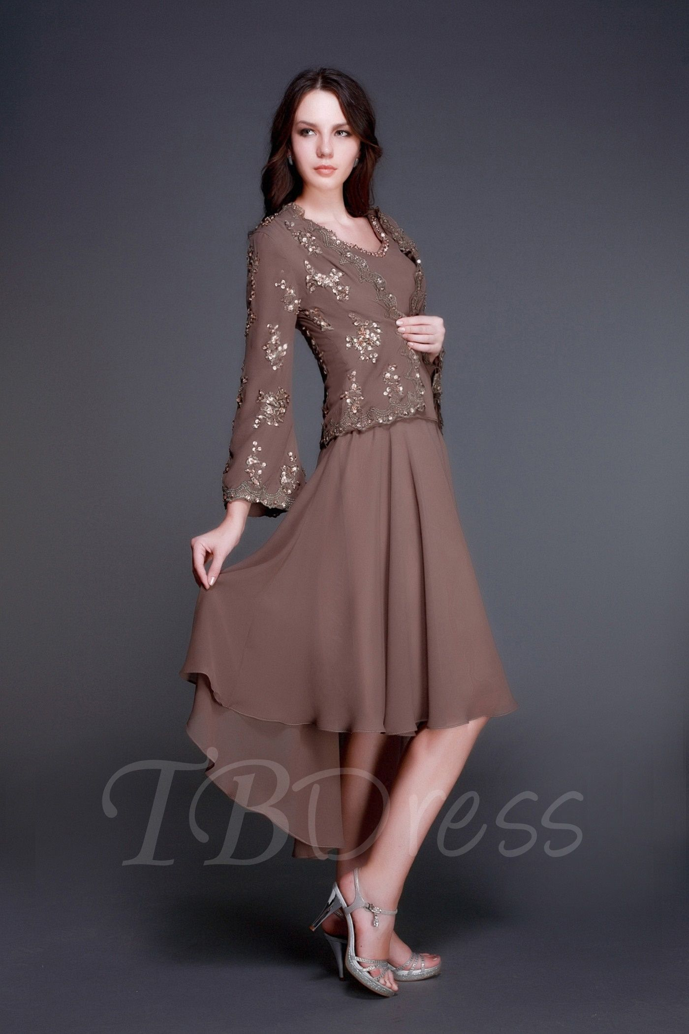 f7c32ff8c8b Tbdress.com offers high quality A-Line V-neck Asymmetry Luba s Mother of  The Bride Dress With Jacket Shawl Latest Mother Dresses unit price of    132.99.