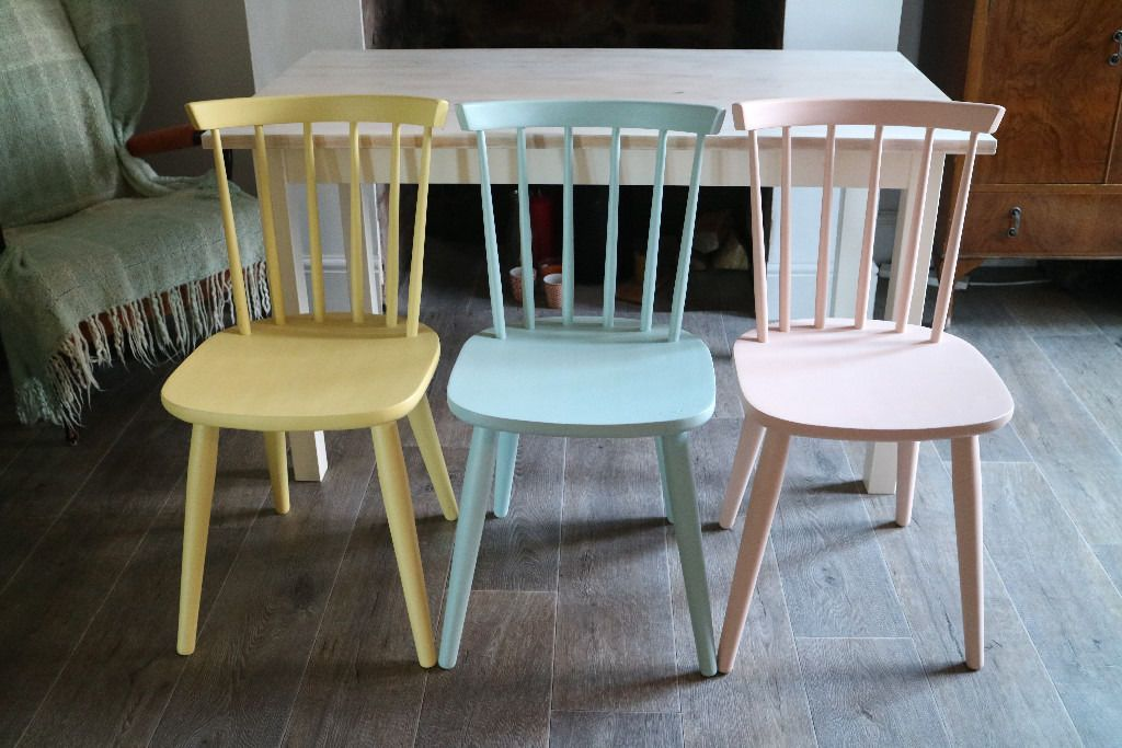 Ercol Style Dining Chairs And Table Shabby Chic 3 Multi Coloured In Stapleford Nottinghamshire Gumtree