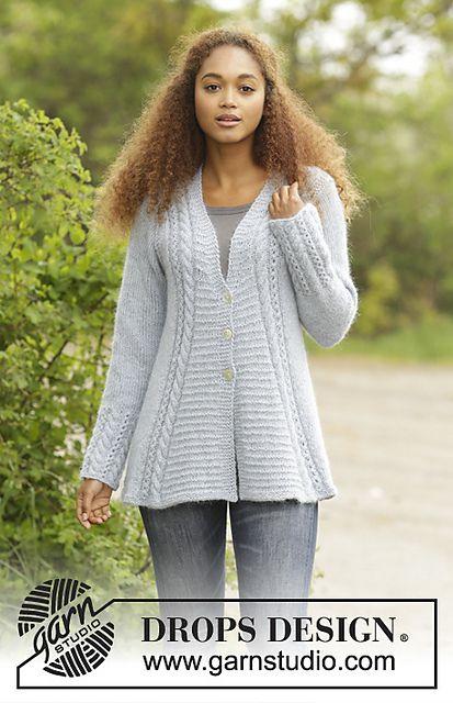 Ravelry 171 3 Bridget Jacket Pattern By Drops Design Crochet