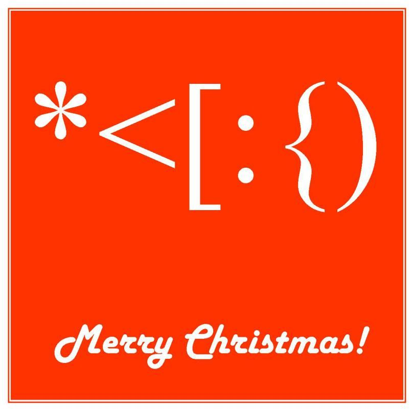 #Santa I LOVE this great use of #keyboard #symbols for #Christmas texts and emails!