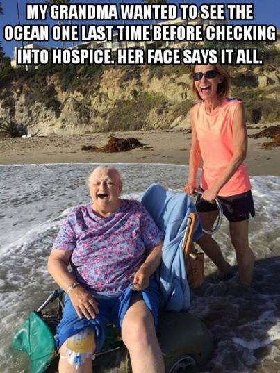This picture makes me happy. i'm glad she has people who care for her.. https://www.facebook.com/AmazingFactsandNature1