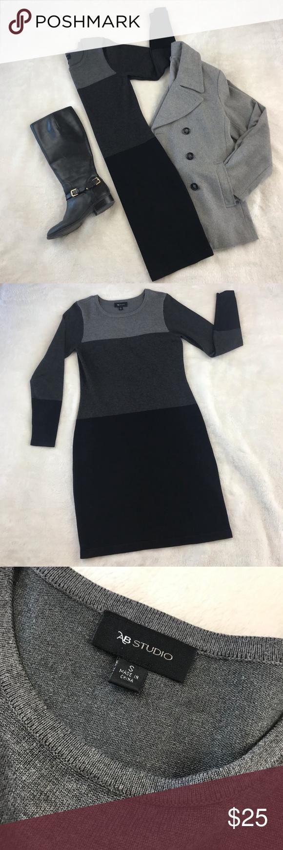 cfcad3b2bb7 Cozy Sweater Dress Women s sweater dress from Kohl s AB Studio Size Small  fits like a Size