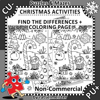 Christmas Activities Candy Cane Find the Differences and Coloring - new christmas abc coloring pages