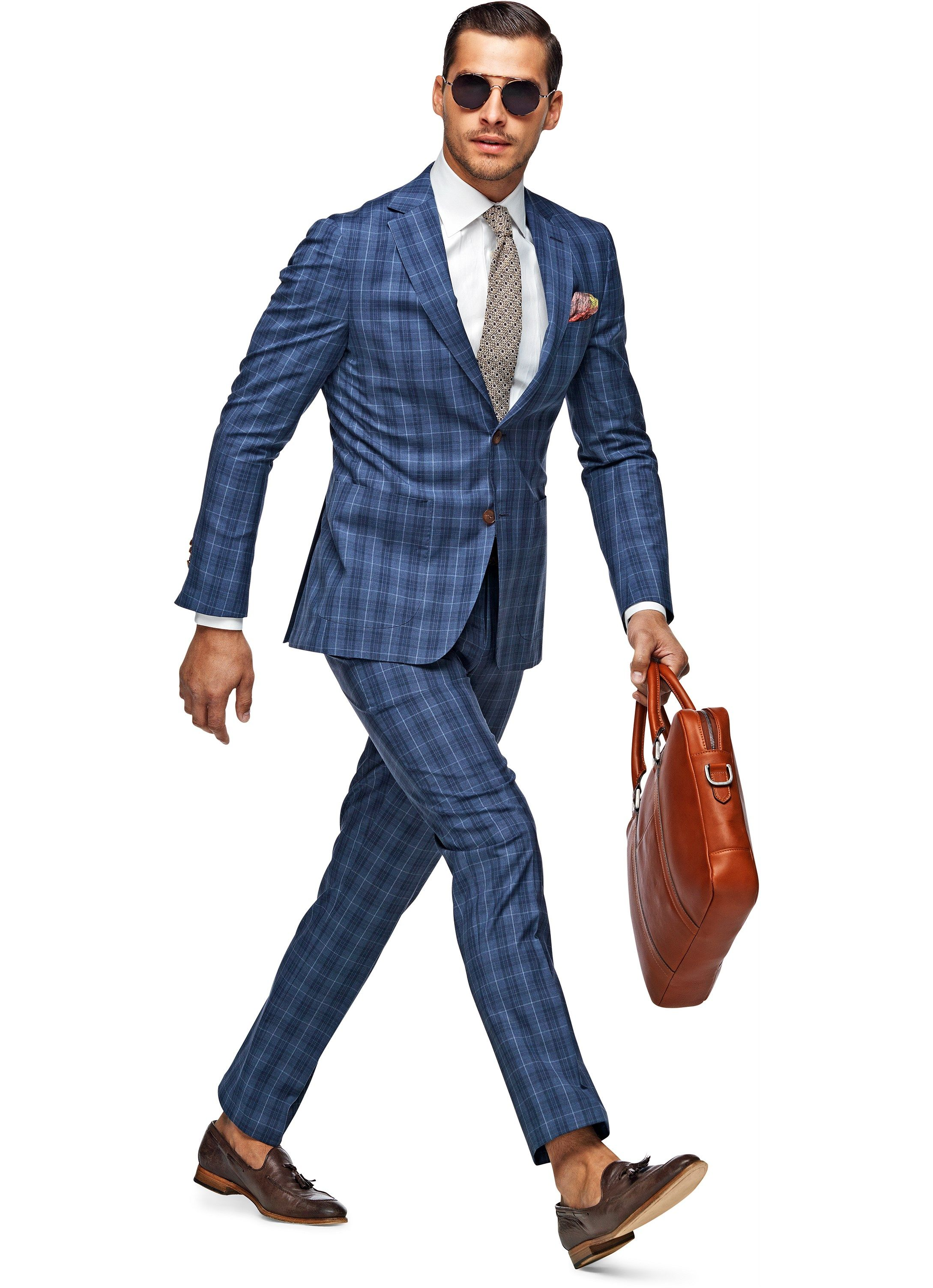 Suit Blue Check Madison P3868 | Suitsupply Online Store | suits