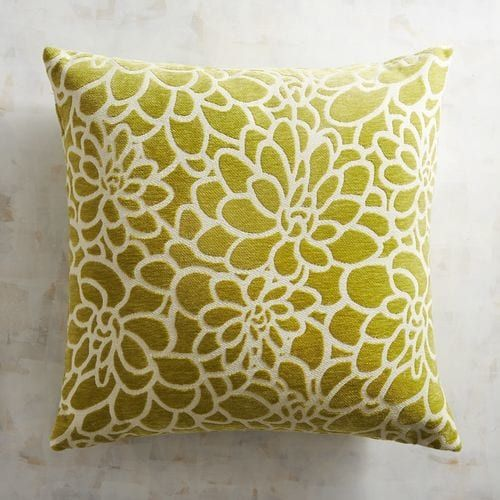 Light Green Floral Chenille Pillow Pier 1 Imports