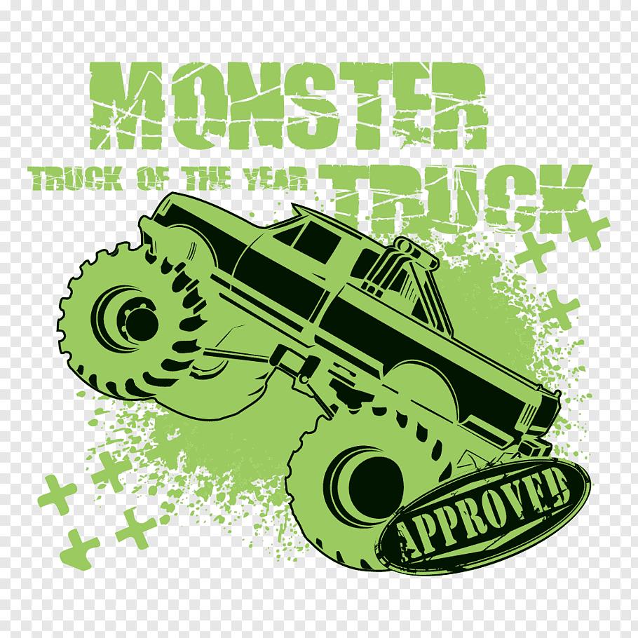 Monster Truck Illustration Car Green Monster Monster Truck Poster Green Car Print Free Png Monster Trucks Monster Truck Art Motorcycle Illustration