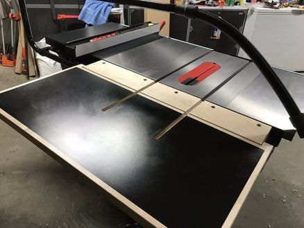 Folding Outfeed Table Workbench Woodworking Shop