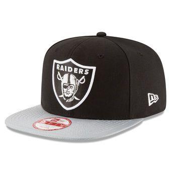 81ad70575e4 Youth Oakland Raiders New Era Black 2016 Sideline 9FIFTY Original Fit  Snapback…