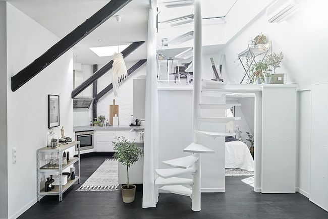 Tiny Stunning Bw Apartment Minimalism Interior